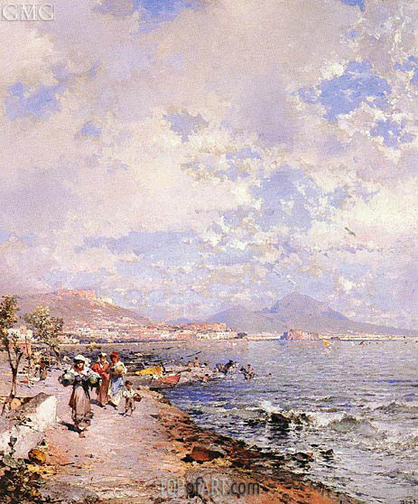 The Bay of Naples, undated | Unterberger | Gemälde Reproduktion