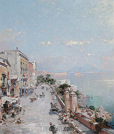 Posilipo, Naples, undated | Unterberger | Painting Reproduction