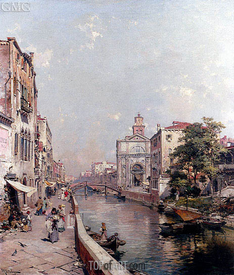 Rio St. Geronimo, Venice, undated | Unterberger | Painting Reproduction