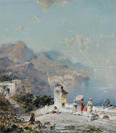 Amalfi, Gulf of Salerno, undated | Unterberger| Gemälde Reproduktion