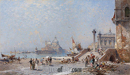 Piazetta St. Maggiore, Venice, undated | Unterberger| Painting Reproduction
