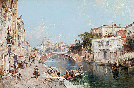Canal in Venice, undated | Unterberger| Painting Reproduction