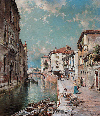 Rio Tiorado, Venice, c.1894/95 | Unterberger| Painting Reproduction