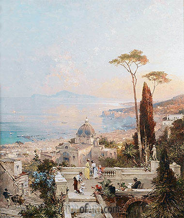 Amalfi, Looking towards the Gulf of Salerno, undated | Unterberger | Painting Reproduction