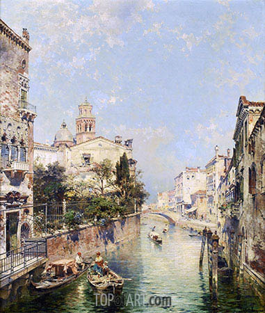 Santa Barnaba, Venice, undated | Unterberger | Painting Reproduction