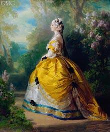 The Empress Eugenie de Montijo, Condesa de Teba, 1854 von Franz Xavier Winterhalter | Gemälde-Reproduktion
