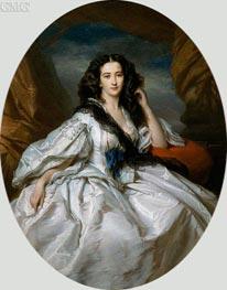 Wienczyslawa Barczewska, Madame de Jurjewicz | Franz Xavier Winterhalter | Painting Reproduction
