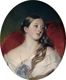 Königin Victoria, 1843 von Franz Xavier Winterhalter | Gemälde-Reproduktion