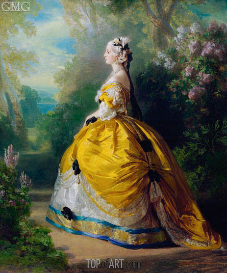 The Empress Eugenie de Montijo, Condesa de Teba, 1854 | Franz Xavier Winterhalter | Painting Reproduction