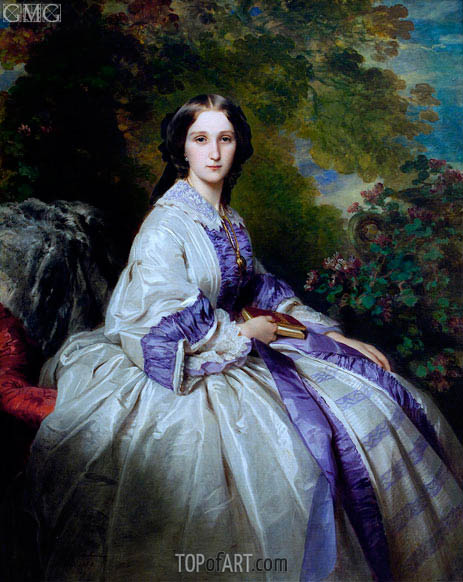 Countess Alexander Nikolaevitch Lamsdorff, 1859 | Franz Xavier Winterhalter | Painting Reproduction