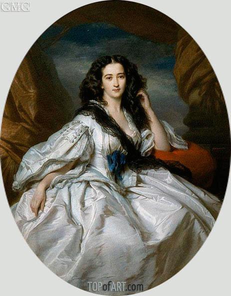 Wienczyslawa Barczewska, Madame de Jurjewicz, 1860 | Franz Xavier Winterhalter | Painting Reproduction