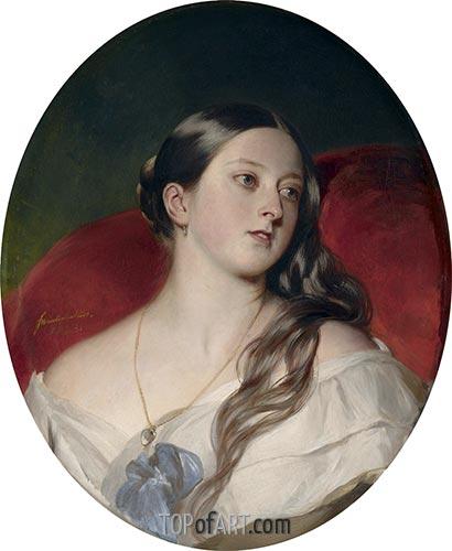 Queen Victoria, 1843 | Franz Xavier Winterhalter | Painting Reproduction
