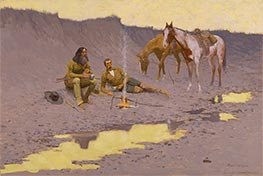 A New Year on the Cimarron, 1903 by Frederic Remington | Painting Reproduction