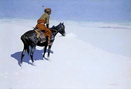 Friends or Foes? (The Scout) | Frederic Remington | Painting Reproduction