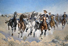 Dismounted: The Fourth Troopers Moving the Led Horses, 1890 by Frederic Remington | Painting Reproduction