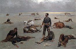 What an Unbranded Cow Has Cost | Frederic Remington | Painting Reproduction
