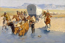 The Emigrants, c.1904 by Frederic Remington | Painting Reproduction