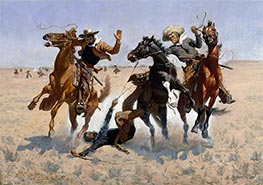 Aiding a Comrade | Frederic Remington | Painting Reproduction