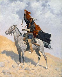 The Blanket Signal | Frederic Remington | Painting Reproduction