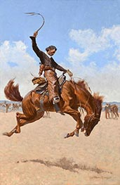 Ein Buck-Jumper, c.1893 von Frederic Remington | Gemälde-Reproduktion