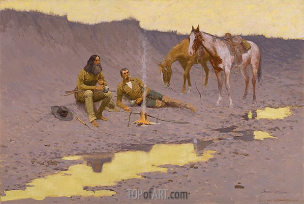 A New Year on the Cimarron, 1903 | Frederic Remington | Painting Reproduction