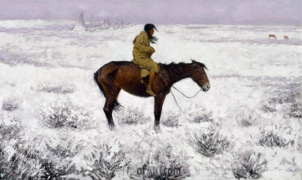 The Herd Boy, c.1905 | Frederic Remington | Painting Reproduction