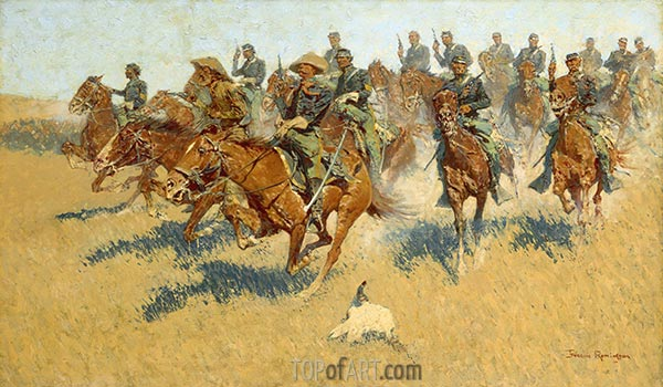On the Southern Plains, 1907 | Frederic Remington | Painting Reproduction