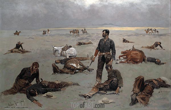 What an Unbranded Cow Has Cost, 1895 | Frederic Remington | Painting Reproduction