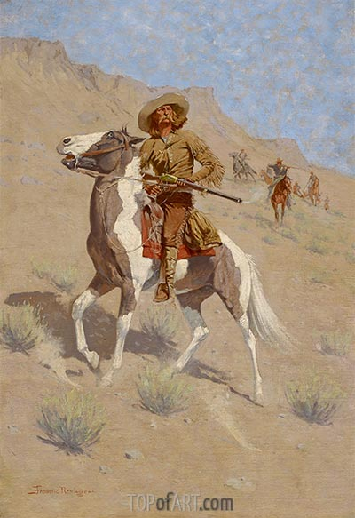 The Scout, c.1902 | Frederic Remington | Painting Reproduction