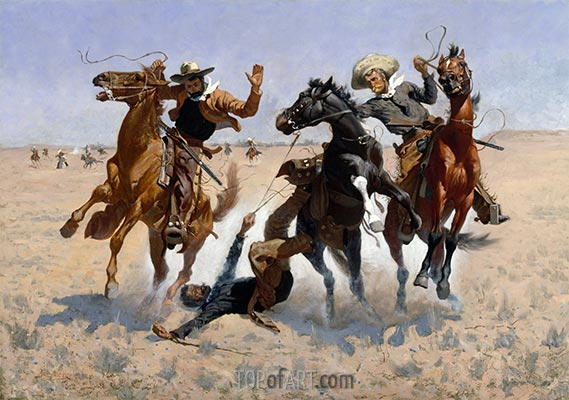Aiding a Comrade, c.1889/90 | Frederic Remington | Painting Reproduction