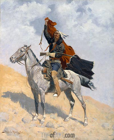The Blanket Signal, c.1896 | Frederic Remington | Painting Reproduction