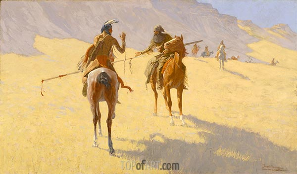 The Parley, 1903 | Frederic Remington | Painting Reproduction