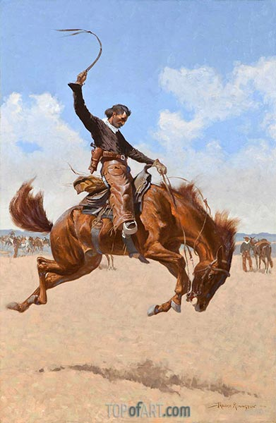 A Buck-Jumper, c.1893 | Frederic Remington | Painting Reproduction