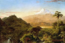 South American Landscape, 1856 by Frederic Edwin Church | Painting Reproduction