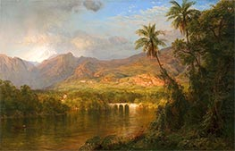 South American Landscape, 1873 by Frederic Edwin Church | Painting Reproduction
