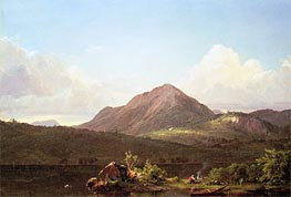 Camp Fire in the Maine Wilderness | Frederic Edwin Church | Painting Reproduction
