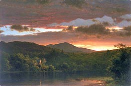 Twilight (Catskill Mountain), 1858 by Frederic Edwin Church | Painting Reproduction