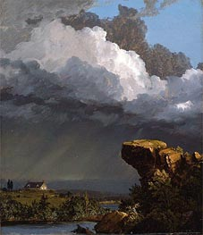 A Passing Storm, 1849 by Frederic Edwin Church | Painting Reproduction