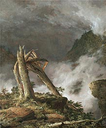 Storm in the Mountains, 1847 by Frederic Edwin Church | Painting Reproduction