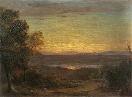 Sunset from Olana, 1891 by Frederic Edwin Church | Painting Reproduction