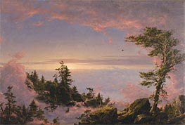 Above the Clouds at Sunrise, 1849 by Frederic Edwin Church | Painting Reproduction