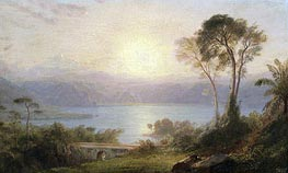 Tropical Landscape, c.1882 by Frederic Edwin Church | Painting Reproduction