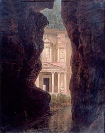 El Khasne, Petra, 1874 by Frederic Edwin Church | Painting Reproduction