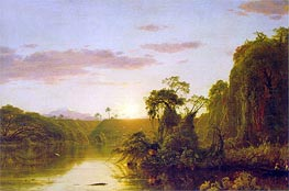 Scene on the Magdalena, 1854 by Frederic Edwin Church | Painting Reproduction