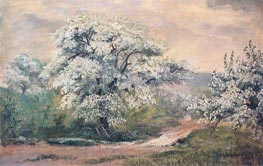 Apple Blossoms at Olana, 1870 by Frederic Edwin Church | Painting Reproduction