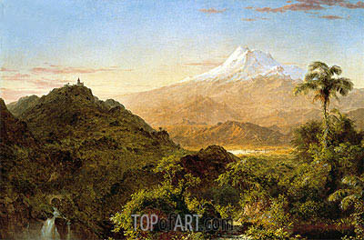 South American Landscape, 1856 | Frederic Edwin Church| Painting Reproduction