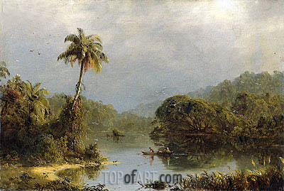 Tropical Landscape, c.1855 | Frederic Edwin Church | Painting Reproduction