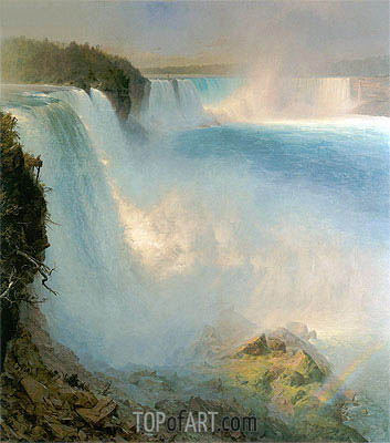 Niagara Falls, 1867 | Frederic Edwin Church| Painting Reproduction