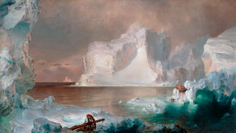 The Icebergs, 1861 | Frederic Edwin Church| Gemälde Reproduktion
