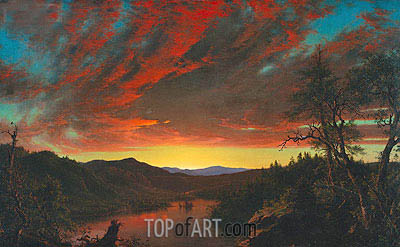 Frederic Edwin Church | Twilight in the Wilderness, 1860